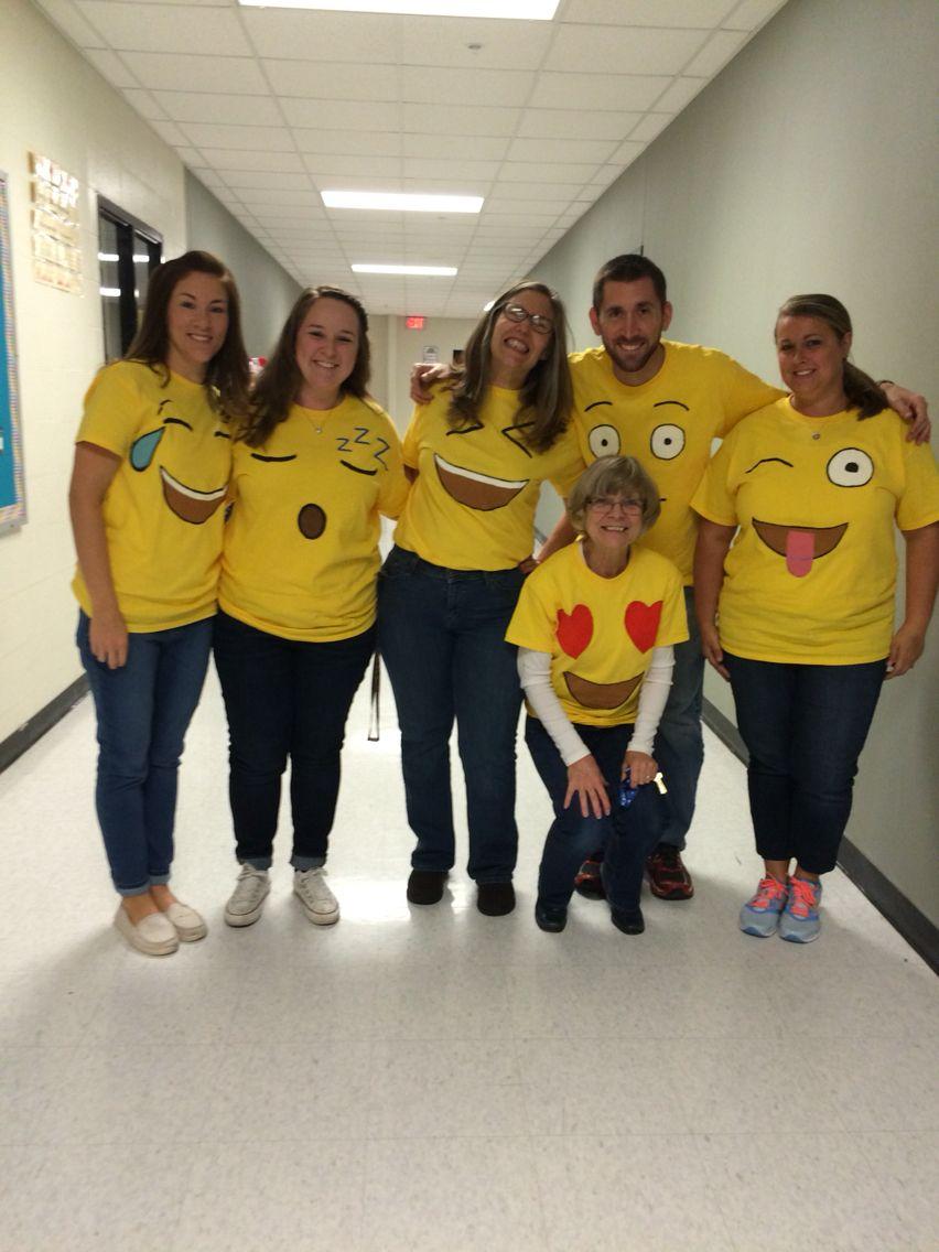 Office halloween costumes - Halloween Group Emojis Costume