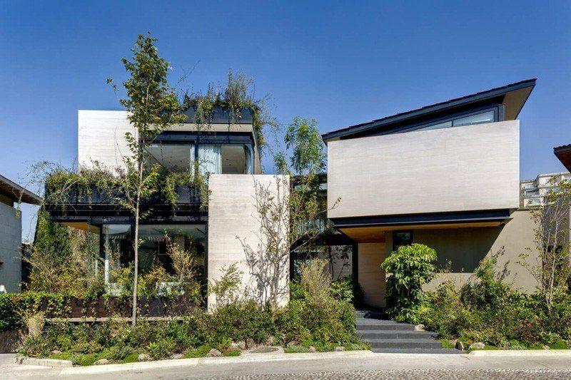 façade entrée - Garden house par VGZ Architecture - Mexico, Mexique