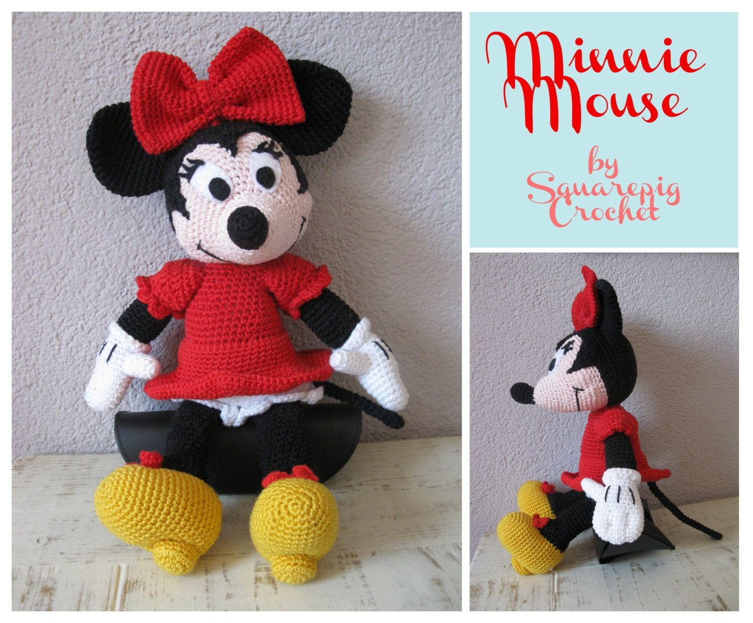 Minnie mouse crochet pattern about 14 inches by squarepigcrochet minnie mouse crochet pattern about 14 inches by squarepigcrochet bankloansurffo Choice Image
