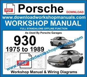 Porsche 930 Service Repair Manual & Wiring