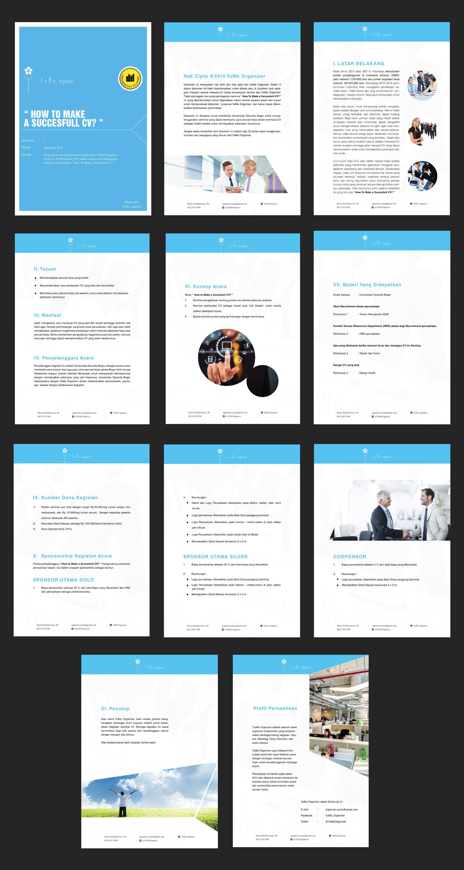PROPOSAL CV WORKSHOP EVENT SAMPLE DESIGN #Proposal #Design | cv ...