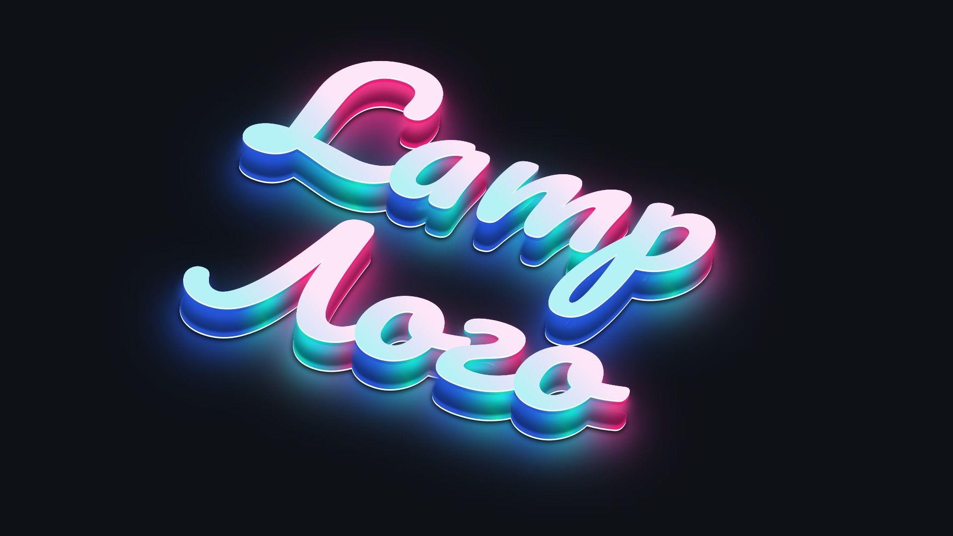 Create best glow text font effect design neon glow neon