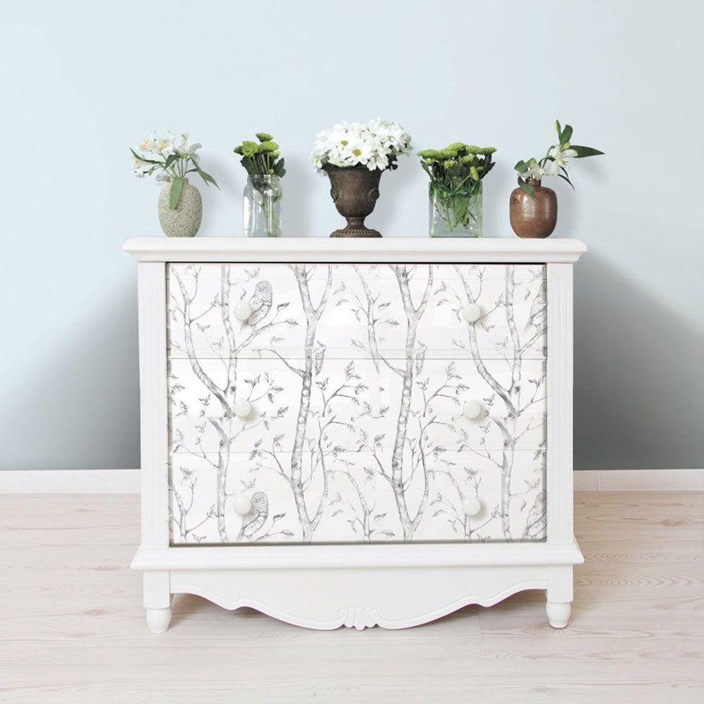 NuWallpaper Woods Peel And Stick Wallpaper Grey Fine Decor