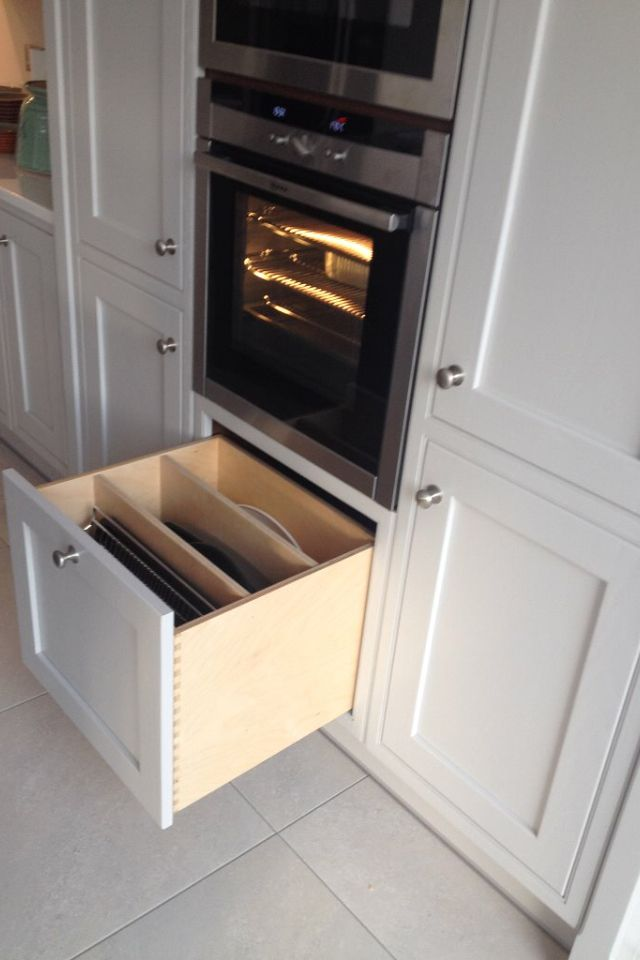 Deep Dovetail Drawer With Dividers For Oven Trays Etc
