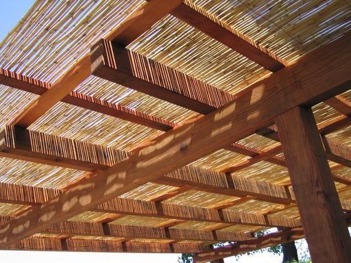 ombrage pergola bois bambou canisses  Pergola bois bambou en 2018  Pinterest  Pergola