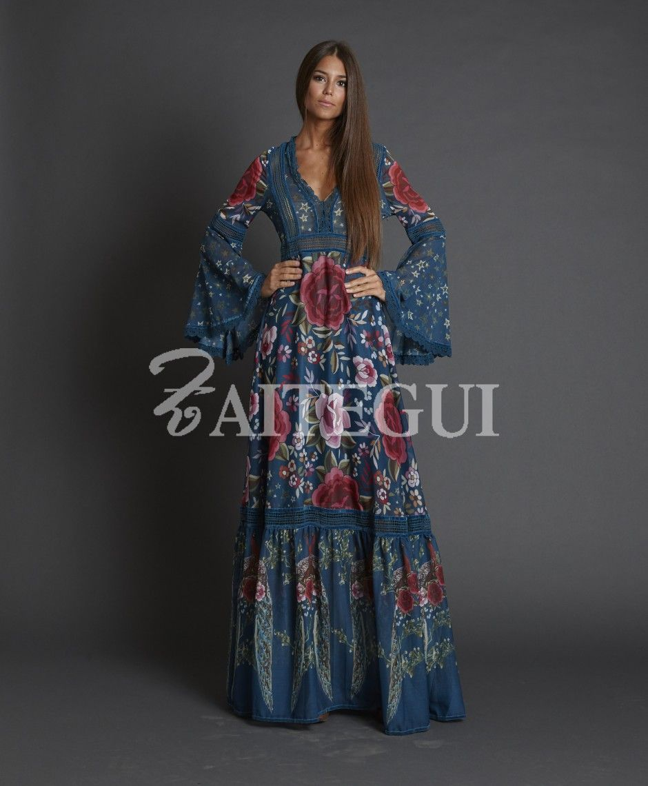 Vestido Rosas En 2019 Vestidos Bohemios Largos Vestidos