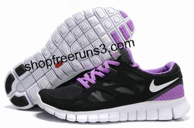 Mens Womens Nike Free Run 2 Black Purple   Nike free run 2, Nike ...