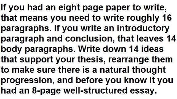 how to write an eight page well structured essay