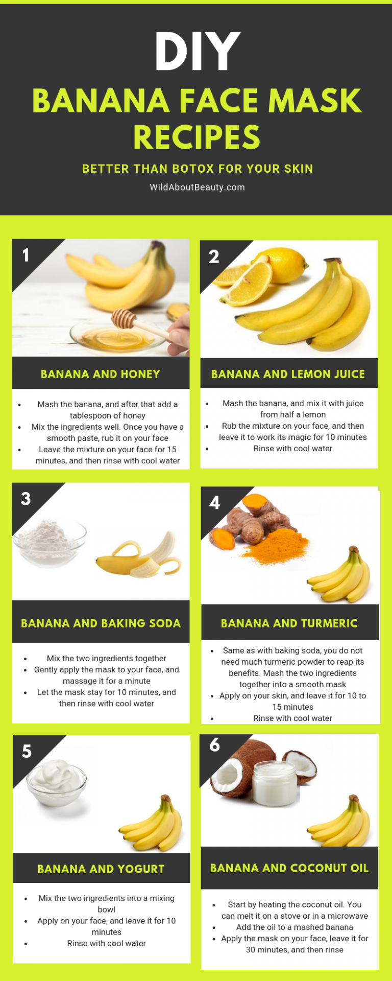 banana face mask recipes #SkinPeelMask in 2020 | Banana face
