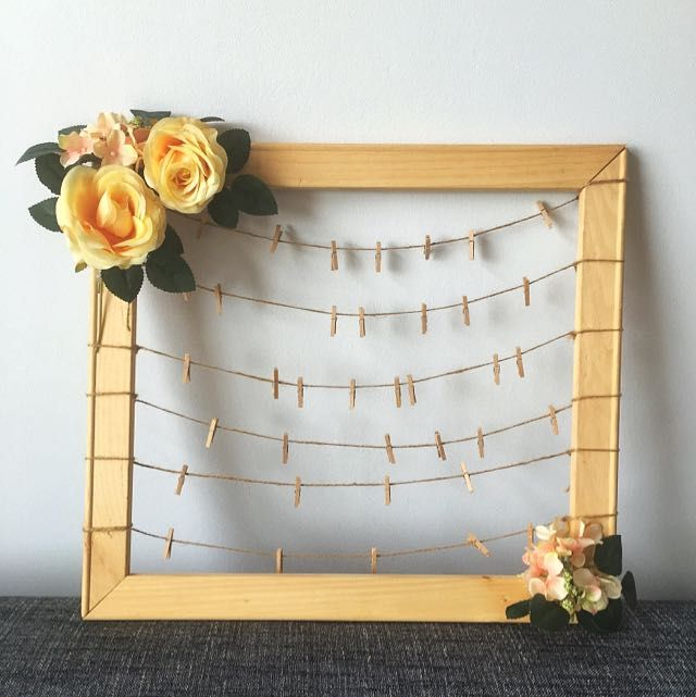 Modern Photo Frame Fashion Sequin Display Pegs Poster Wedding Party Wall Picture