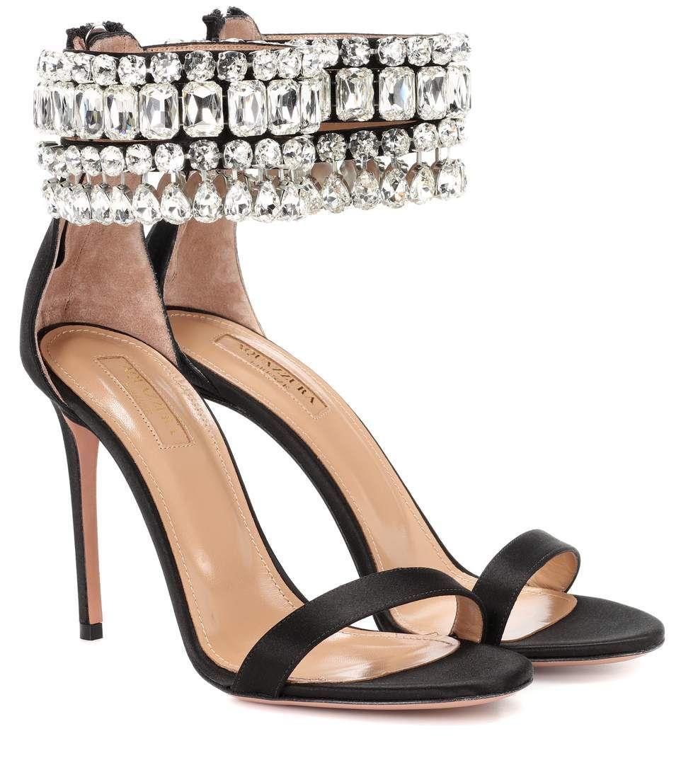 1907ef3b2ccc AQUAZZURA Gem Palace 105 satin sandals.  aquazzura  shoes    SandalsHeels