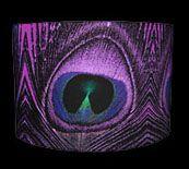 "Zedhead Designs - Purple Feather Print Lampshade 16"""