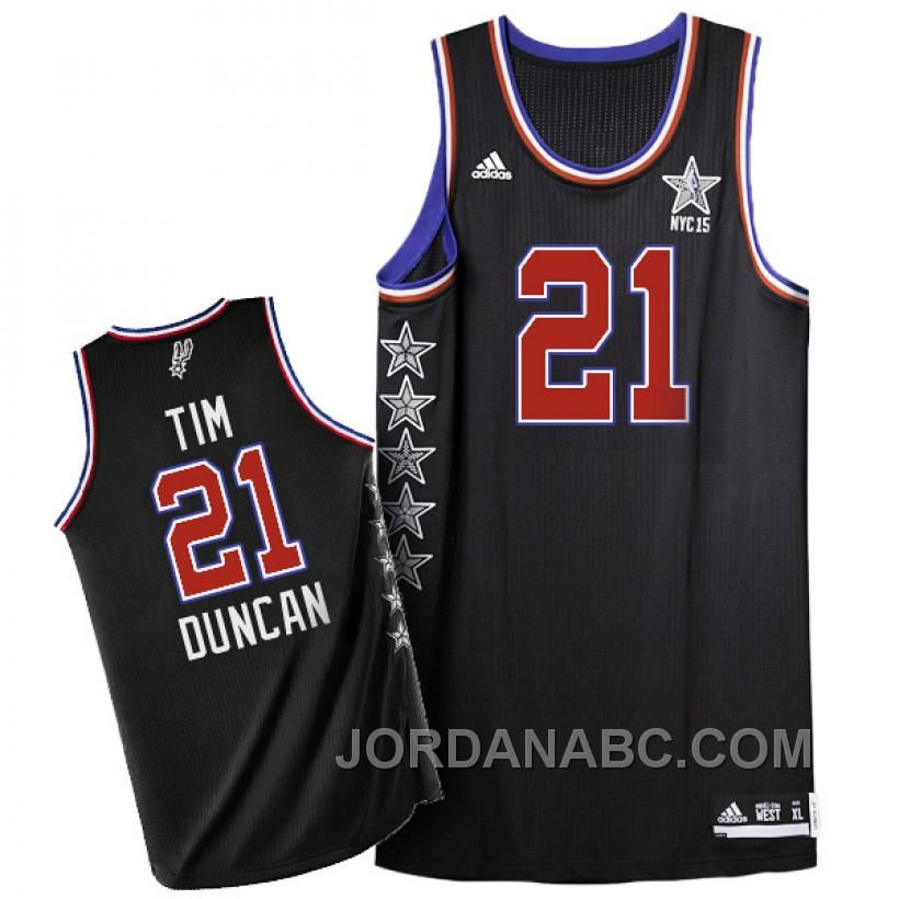 http://www.jordanabc.com/tim-duncan-2015-nba-nyc-allstar-western-conference-21-black-jersey.html TIM DUNCAN 2015 NBA NYC ALL-STAR WESTERN CONFERENCE #21 BLACK JERSEY Only $69.00 , Free Shipping!