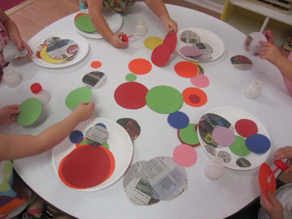 We Made A Circle Collage In Preschool