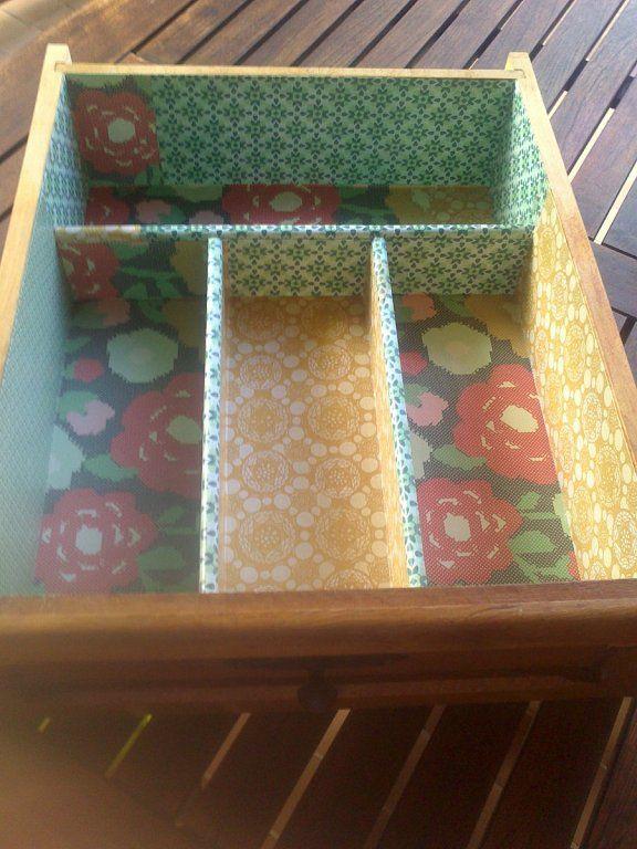 Diy c mo decorar muebles con papel pintado - Como decorar con papel pintado ...