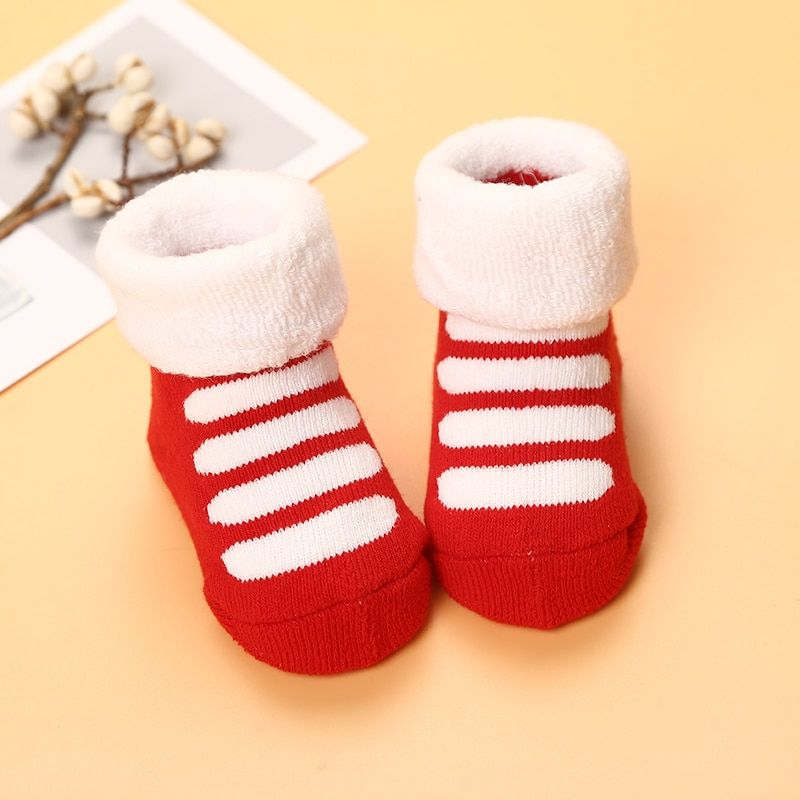 1f62851e3 Thick Warm Winter Baby Socks Newborn Baby Socks Cute Candy Color ...
