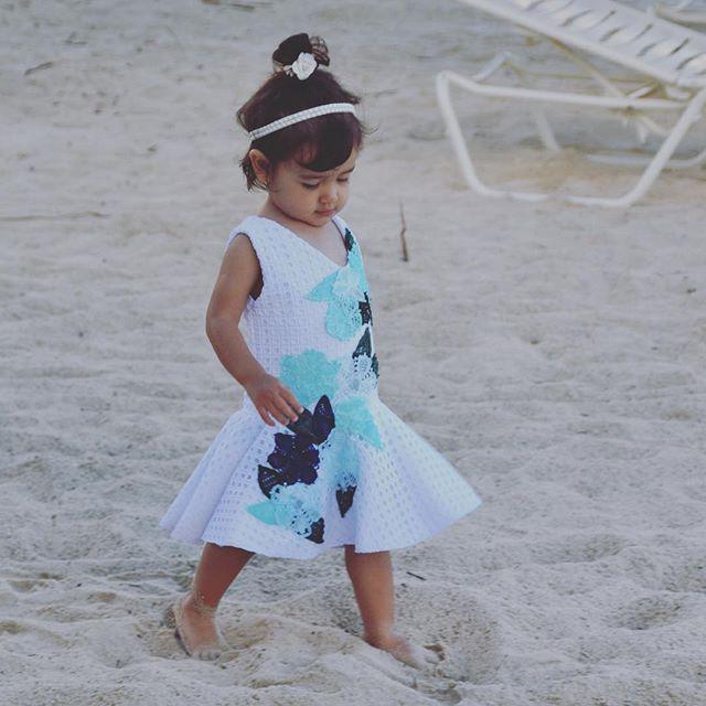 Vestido niver de 2 anos na praia