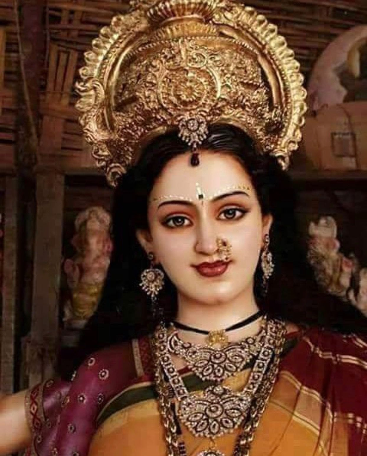 Supreme Goddess Parashakthi Or Beautiful Lady Goddess Parvati Durga Maa Maa Durga Photo Durga