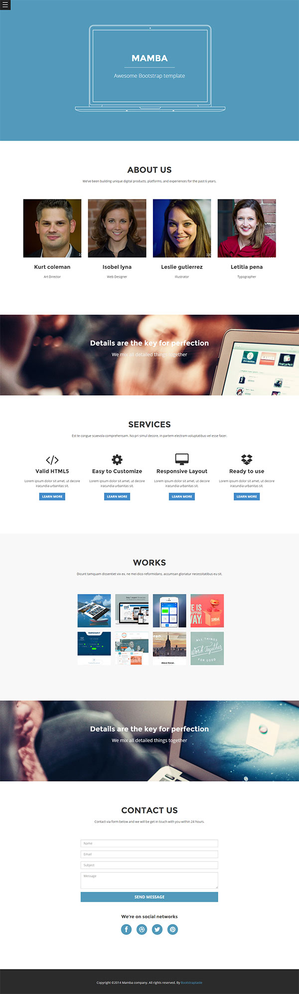 Free Mamba Bootstrap Templates   Free download bootstrap template ...