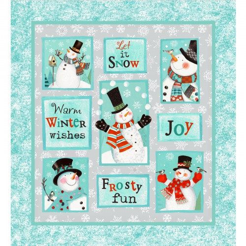 Frosty Fun Panel - Clothworks - 100% Cotton High Quality Quilting ... : high quality quilting fabric - Adamdwight.com