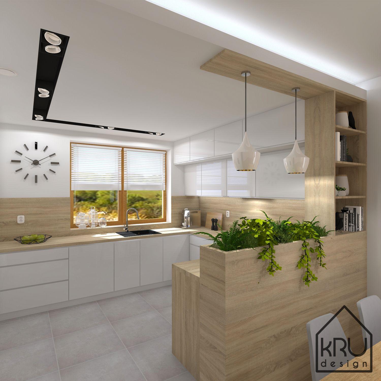 Rosliny W Kuchni Kuchnia Styl Nowoczesny Skandynawski Wiecej Na Https Www Faceb Kitchen Design Plans Modern Kitchen Design Modern Kitchen Cabinet Design
