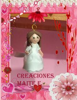 FOFUCHAS. Manualidades y Creaciones Maite: FOFU LLAVERO NIÑA COMUNION