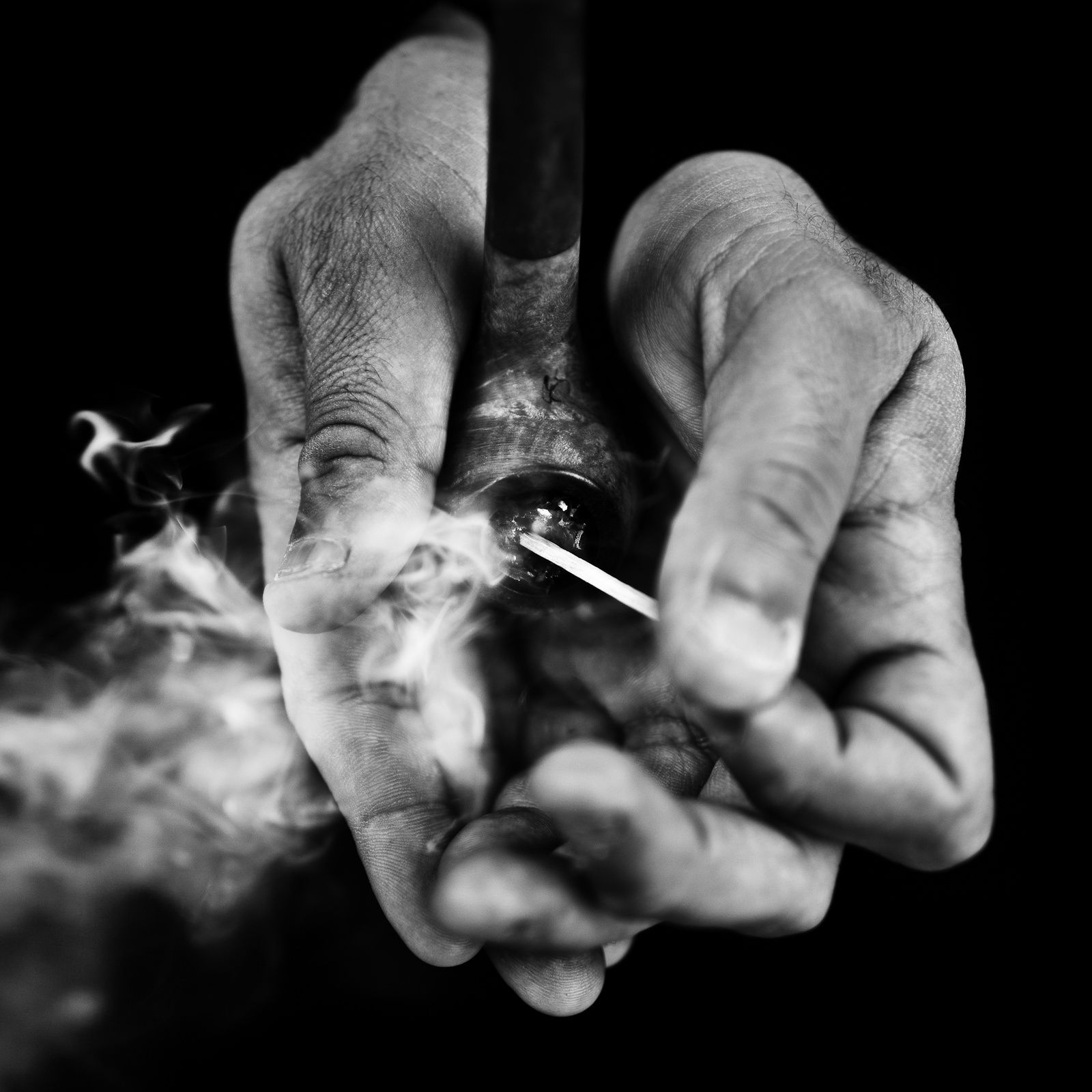 Benoit Courti - Deep Black   Black and white photography, Show of hands,  Dark photography