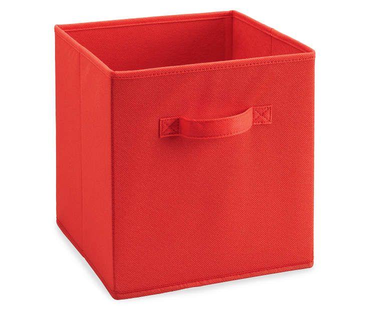 Red Fabric Bin - Big Lots | Fabric bins, Fabric storage ...