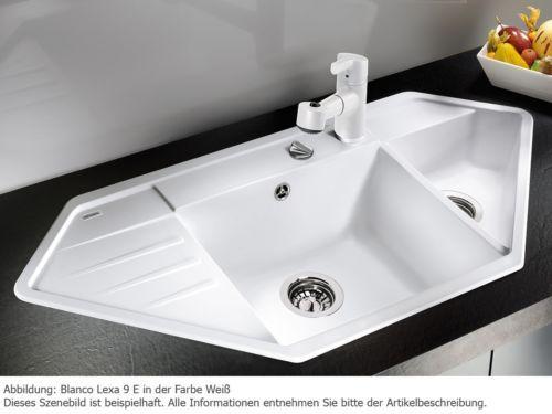 details zu blanco lexa 9 e wei granitsp le auflagen weiss und einrichten und wohnen. Black Bedroom Furniture Sets. Home Design Ideas