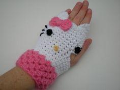 e542645a3 Hello Kitty -Fingerless Mittens free-crochet-patterns   animal ...