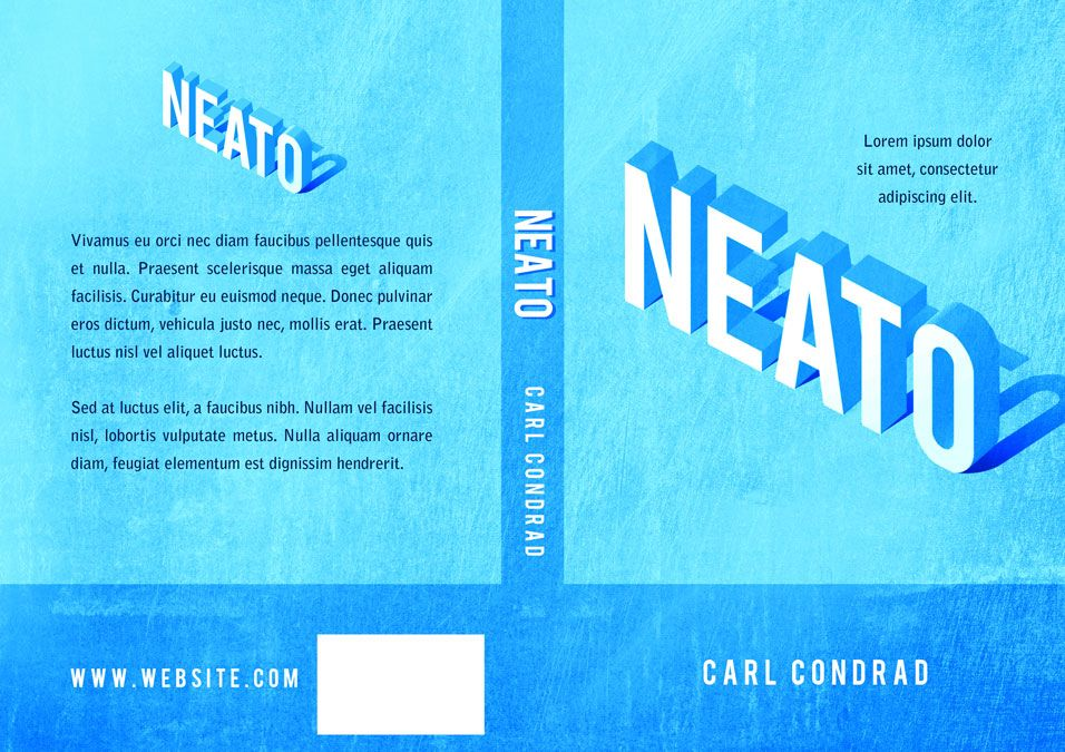 Neato - Typography Book Cover For Sale at Beetiful Book Covers