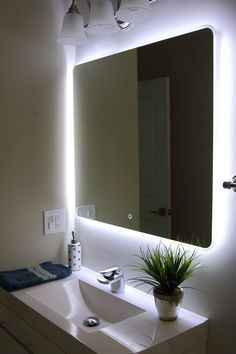 Bathroom Mirror Designs Mesmerizing Windbay Backlit Led Light Bathroom Vanity Sink Mirrorilluminated Inspiration Design