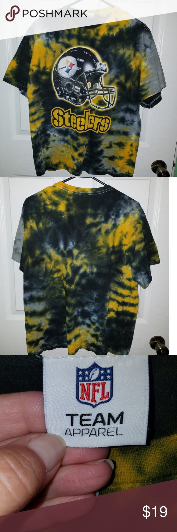 Pittsburgh Steelers Tye-Dyed T-Shirt size Large Pittsburgh Steelers Tye-Dyed  T-Shirt size Large. Excellent used condition no stains or rips or pics. NFL  ... 72b6e5cd1