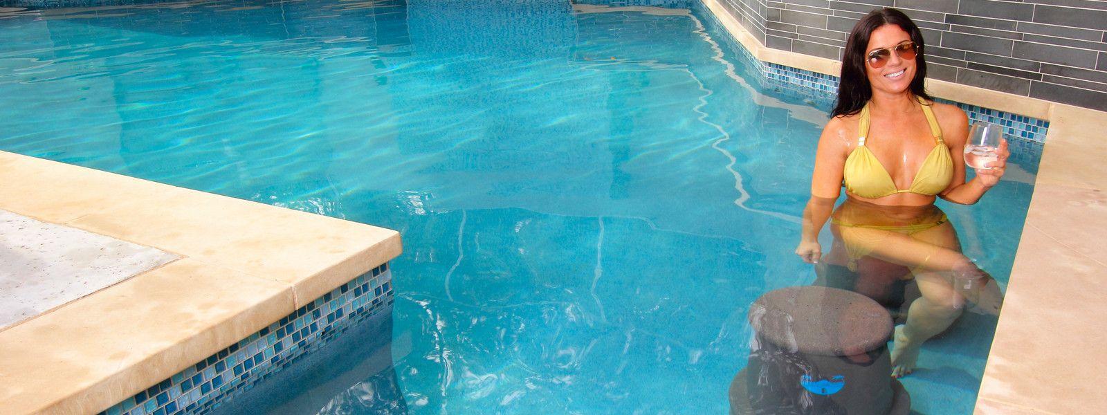 Removable Pool Bar Stools, Pool Seats, Swim up Bar seating ...