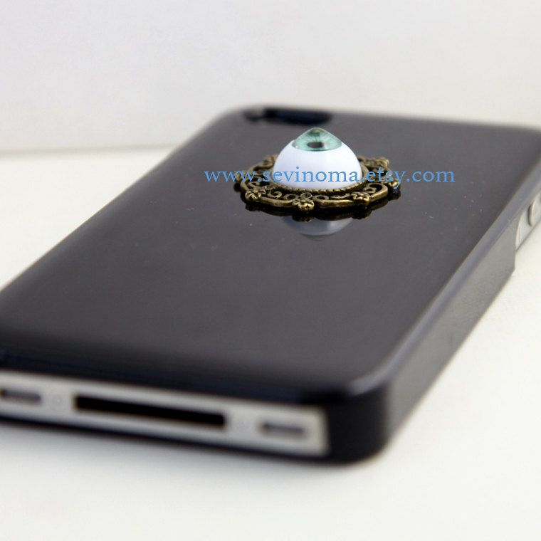harry potter evil eye Iphone 4 Case Cover, iPhone 4s Case, iPhone 4 Hard Case, Black iPhone Case. $11.99, via Etsy.