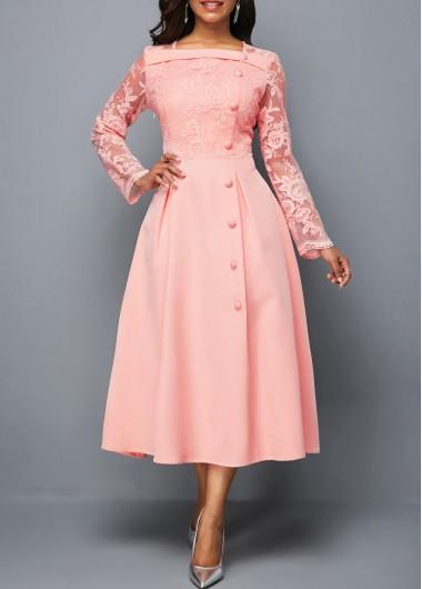 Bowknot Peplum Waist DressUsd Embellished Split Neck nv0Nm8Oyw