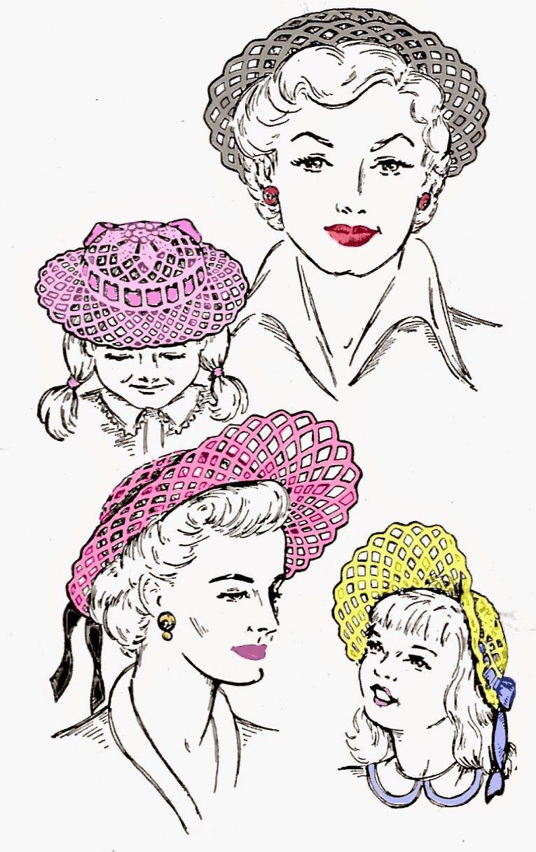Pattern Patter : FREE PATTERN FRIDAY - EASTER BONNETS PatternPatter #hats #freepattern
