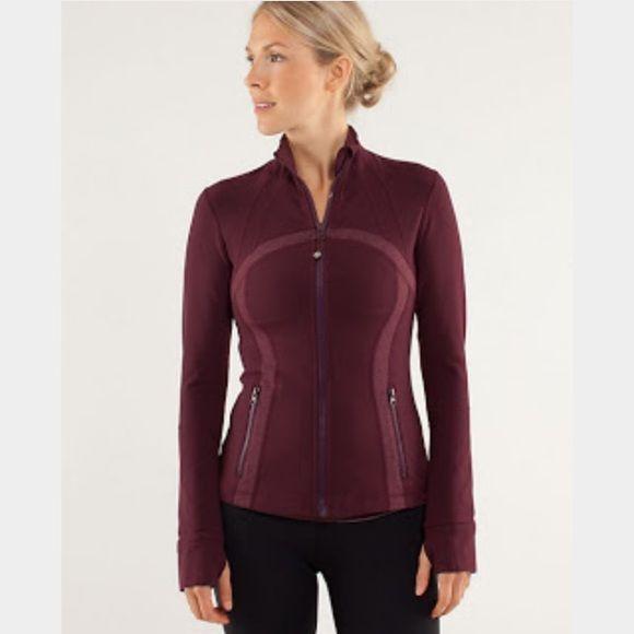 Lululemon Bordeaux Tonka Stripe Define Jacket Excellent condition - define excellent
