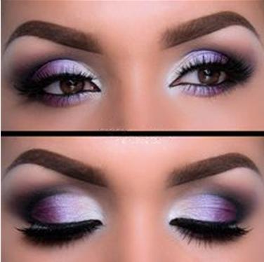 Wedding Makeup Purple Smokey Eyes Toned Brown Eye