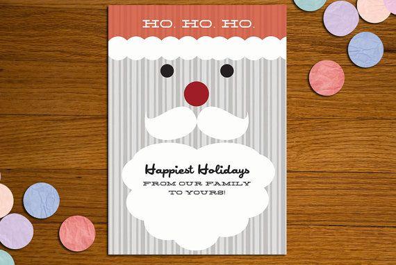 Mustache Santa card