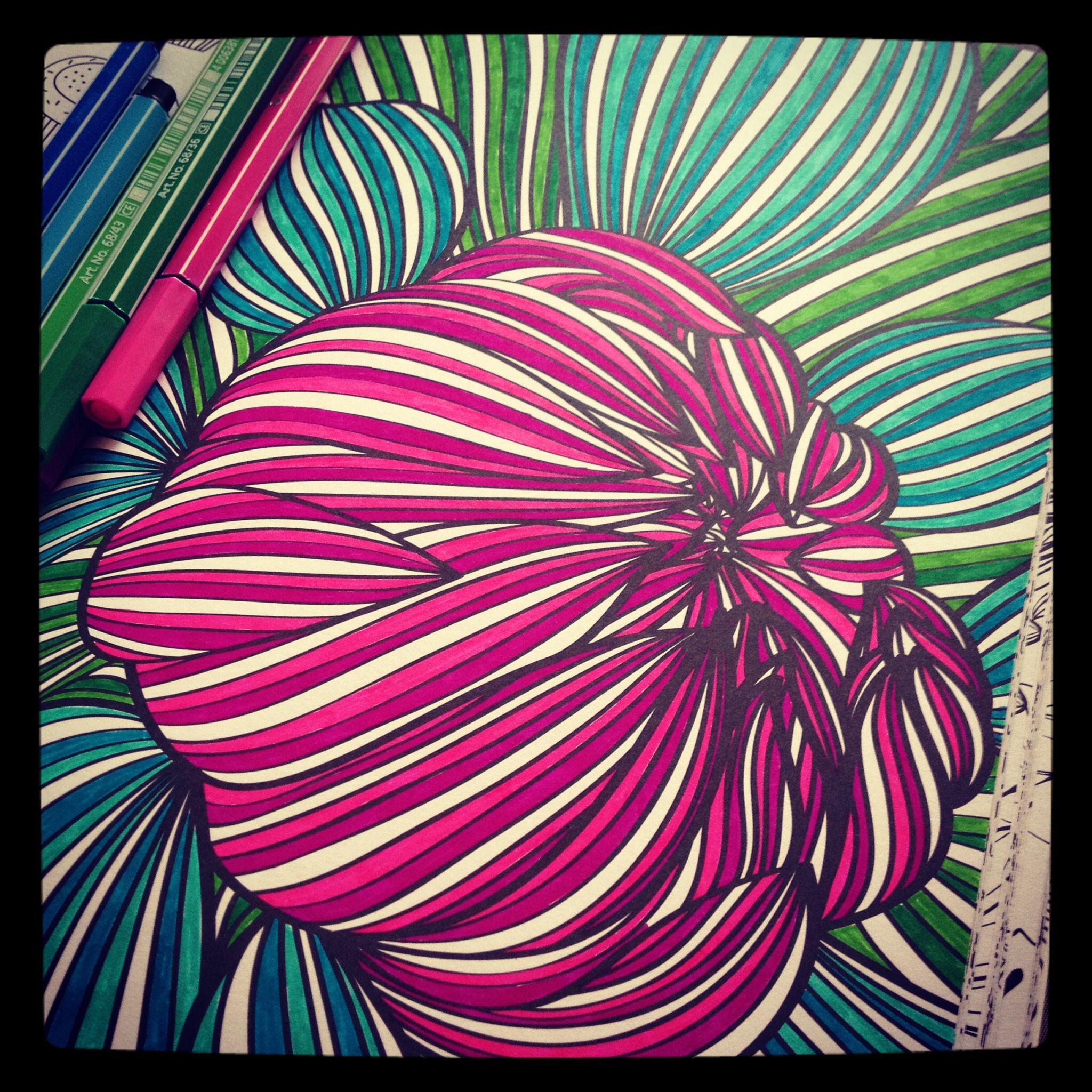 Eigen Creatie Van Deze Kleurplaat Uit Kleurboek Voor Volwassenen
