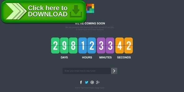 Free nulled Pixp Countdown - Coming Soon Template download Long - email signup template