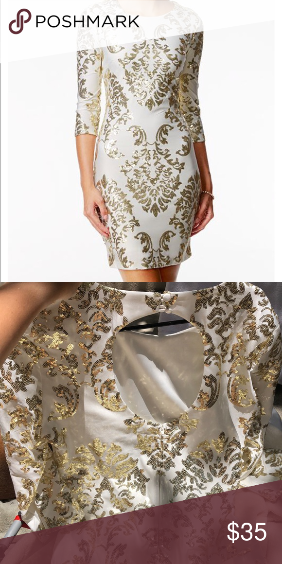 39++ B darlin white and gold sequin dress ideas in 2021