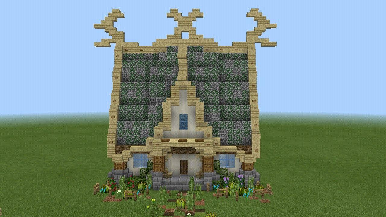 A nice fantasy house  Construção de minecraft, Projetos minecraft