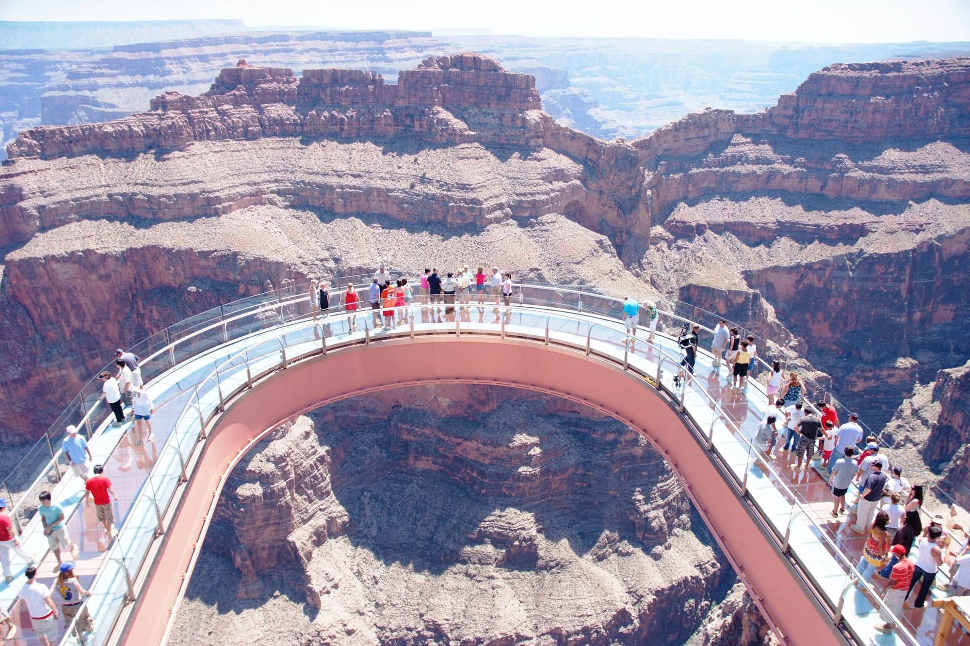 The Grand Canyon Skywalk Is A Glass Walkway And Steel The Grand Canyon Skywalk A Glass Bot Grand Canyon West Grand Canyon West Rim Visiting The Grand Canyon