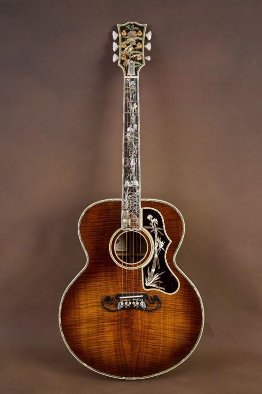 Gibson Sj-200 Koa Maestro Museo Custom Guitarra Acústica! J-200