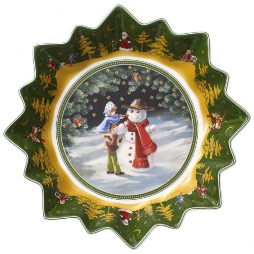 Villeroy & Boch Toy's Fantasy Large Bowl : Snowman 9 1/2 in-01