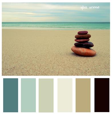 Beach Stones Pallets Spa And Scene Zen Colors