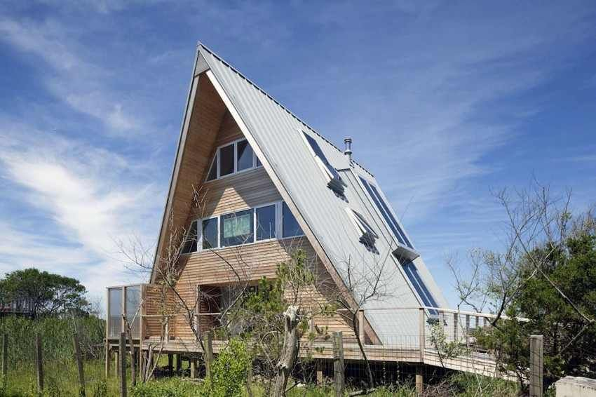 1960s Beach Home Turned into Spectacular Modern A-Frame Residence