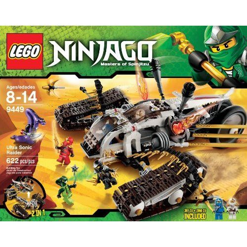 Amazon.com: LEGO Ninjago Ultra Sonic Raider Set 9449 Dragon 6 ...